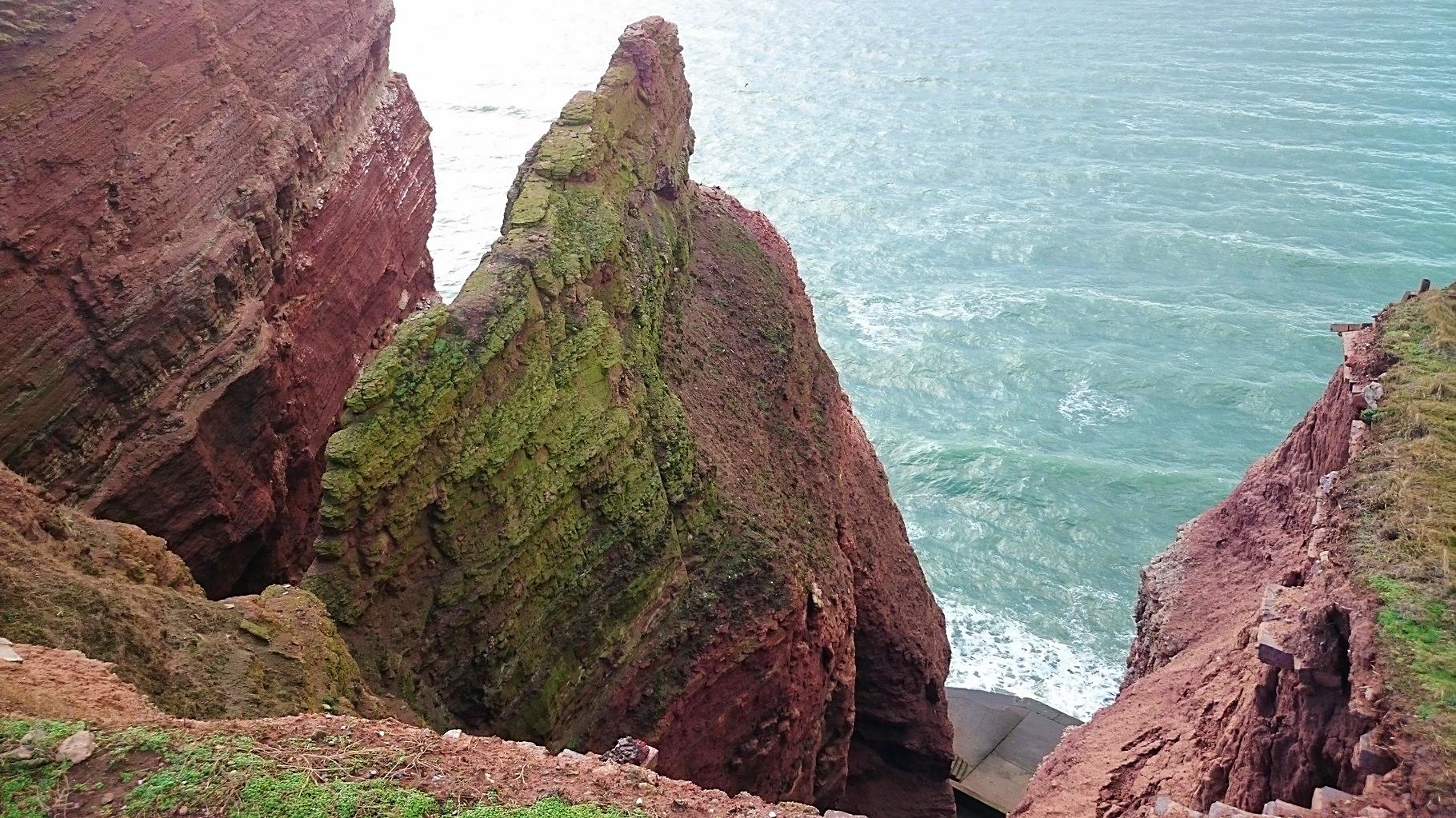 Die Klippen von Helgoland