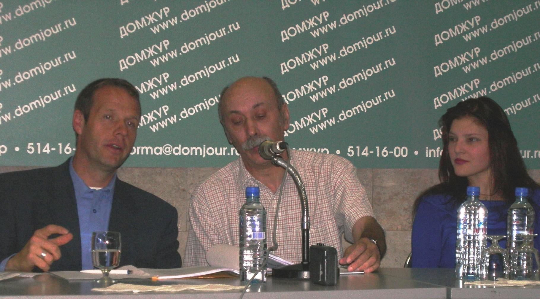 Pressekonferenz in Moskau mit Boris Chlebnikov