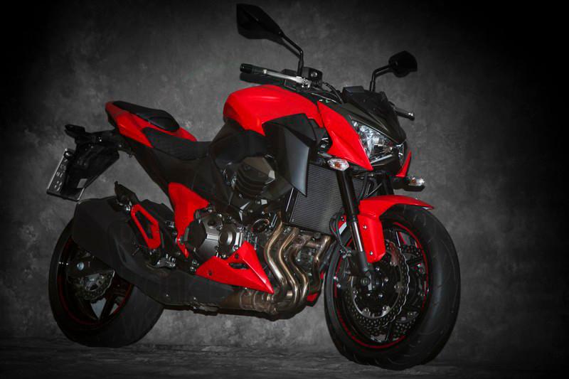 Kawasaki Z800 rot matt foliert, Kawasaki Z800 red