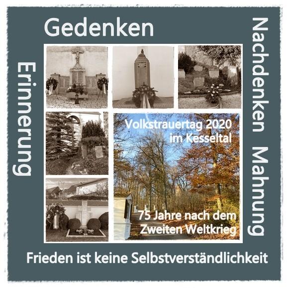 Volkstrauertag 2020 im Kesseltal - 75 Jahre nach dem Zweiten Weltkrieg