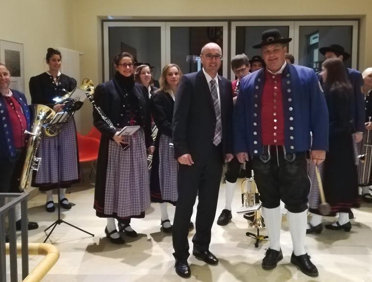 Musikverein bei der Vereidung von Stephan Herreiner zum 1. Bürgermeister