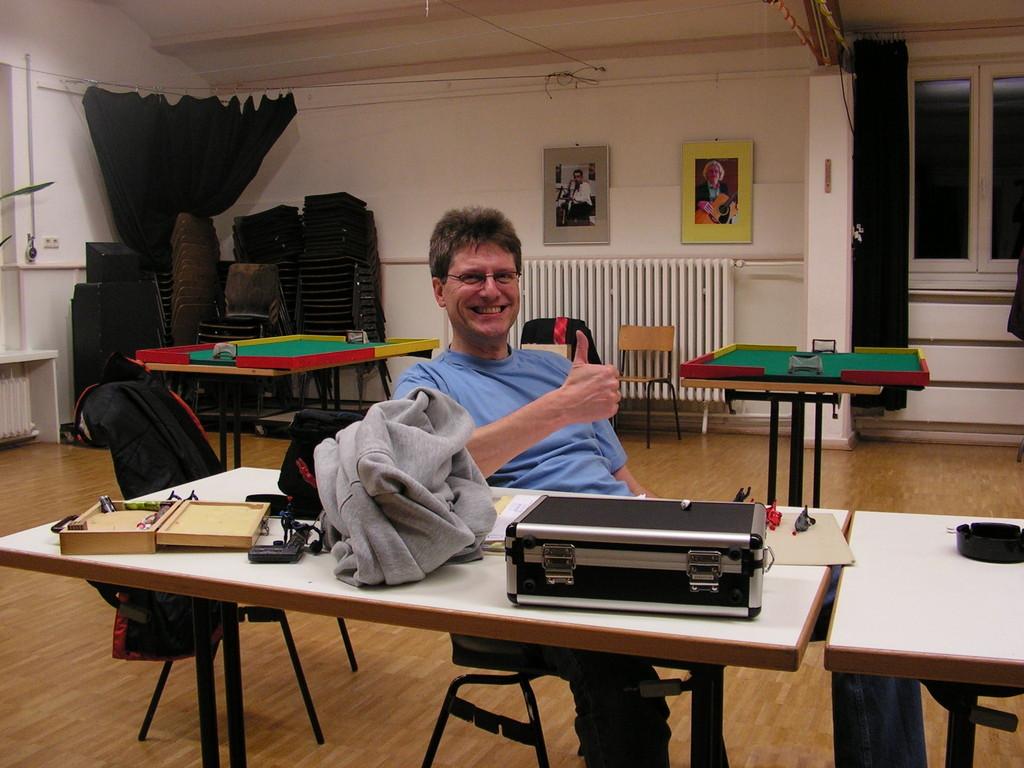 Präsi, Schatzmeister und Webmaster Joachim Pohl