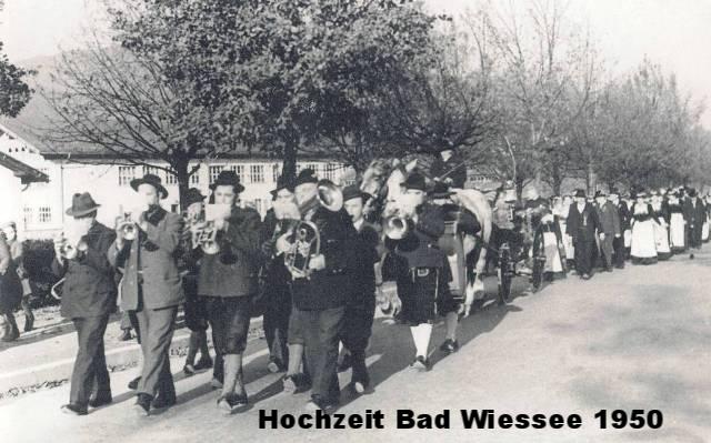 Hochzeit in Bad Wiessee 1950