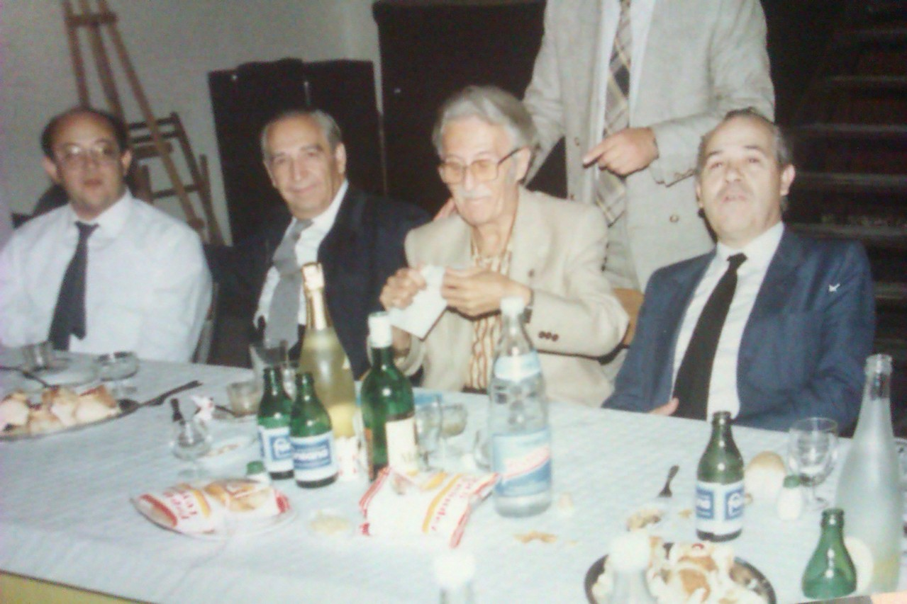 Con Don Jose Roca, Don Manuel Massotti y el Padre Climent