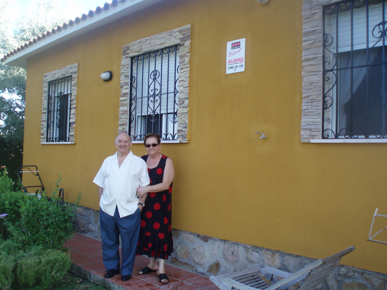 Con su esposa Maria delCarmen