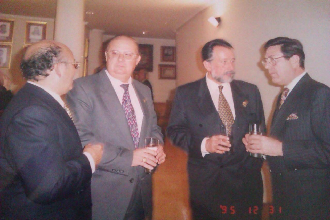 Con Rafael Talens, Alfonso Grau y B. Adam
