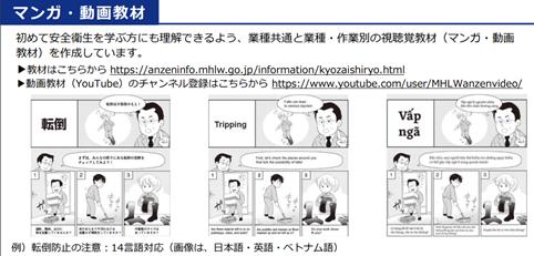 【厚労省作成】外国人労働者向け安全衛生教育教材のご紹介