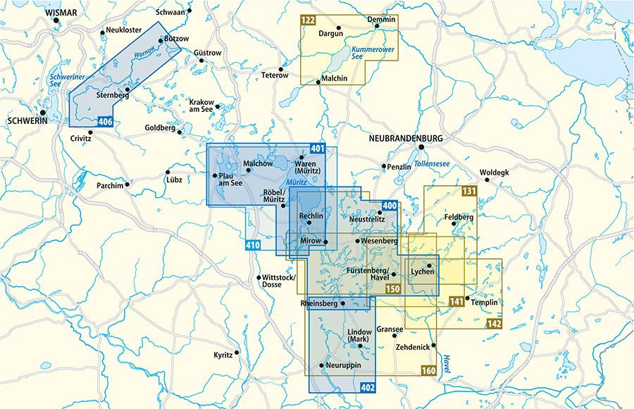 Wasserwanderkarten, Gewässerkarten, Rad-, Wander- und Paddelkarten