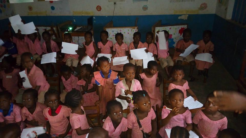 Vote Festimaj dans une école d'Atakpamé - Togo