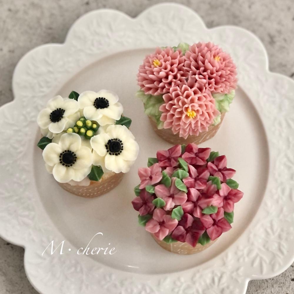 M・cherie:フラワーケーキカップケーキ体験レッスン