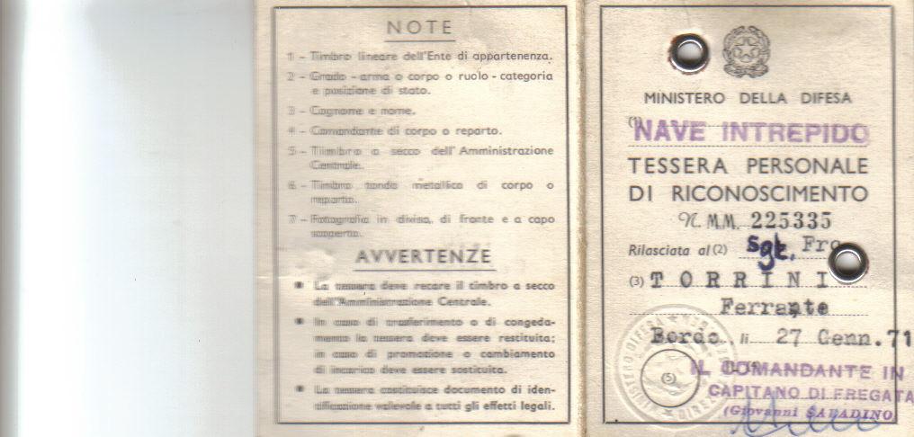 TESSERINO NAVE INTREPIDO (ESTERNO)