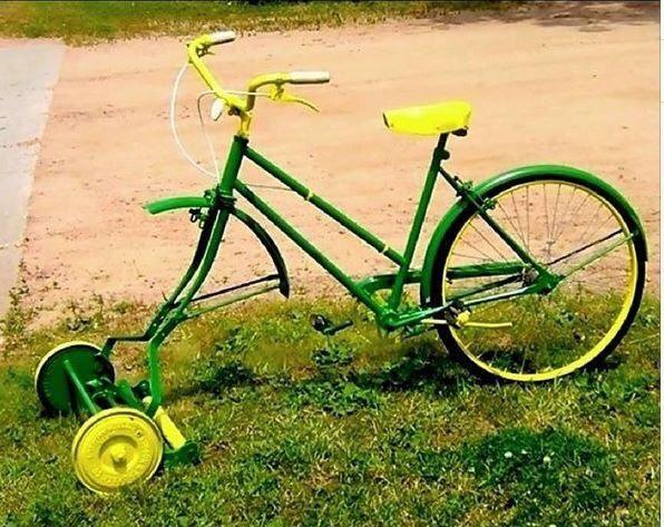 Ich war eine Dose Upcycling Recycling Do it yourself DIY nachhaltig Umweltschutz Rasenmäher Fahrrad Design Minimalismus zero waste