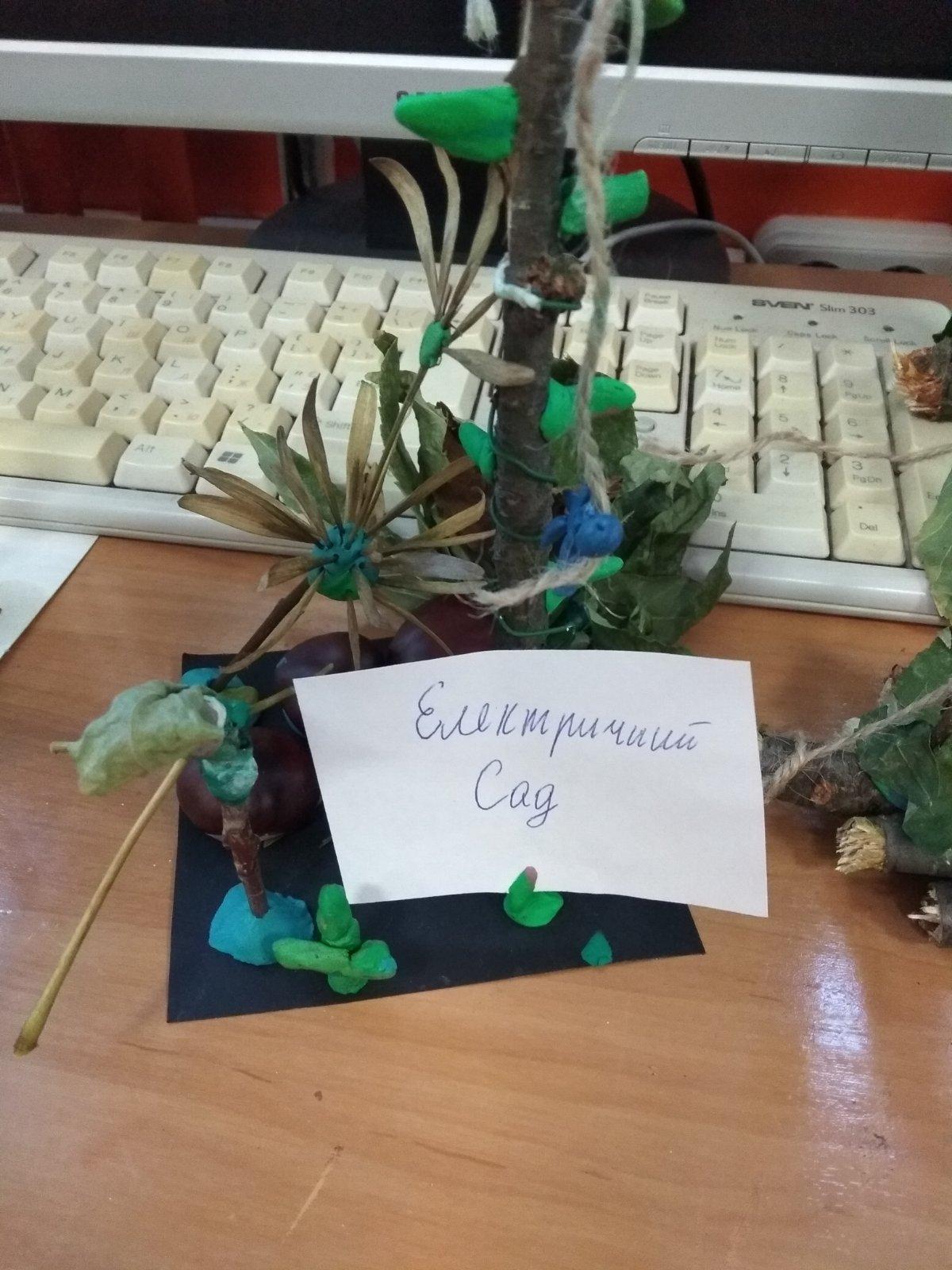 """Виставка робіт учнів 9-В класу з природніх матеріалів - """"Еко- скульптура"""""""