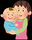 赤ちゃんは抱っこしています