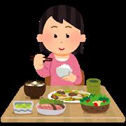 バランスよく食事しましょう。Balanced diet