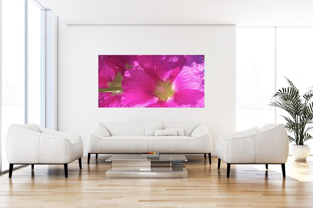 "Leinwandbild ""Pink Flowers"""