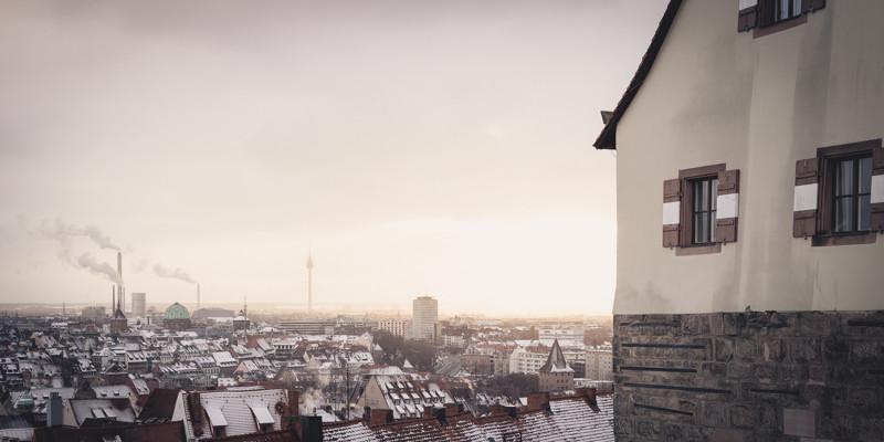 Nürnberg - Blick von der Kaiserburg (Copyright Martin Schmidt, Fotograf für Schwarz-Weiß Fine-Art Architektur- und Landschaftsfotografie aus Nürnberg)
