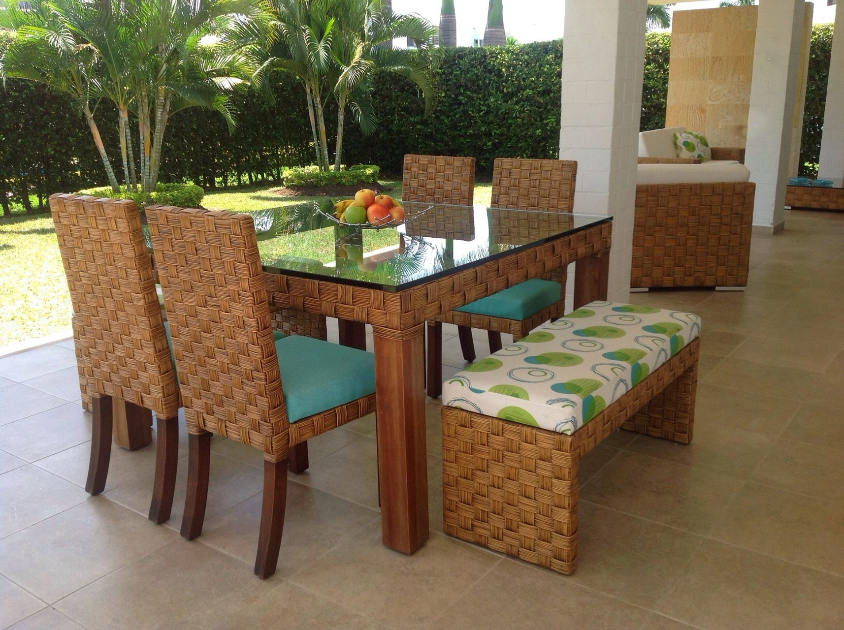 Muebles de rattan para exterior simple silln reclinable for Muebles de exterior de rattan