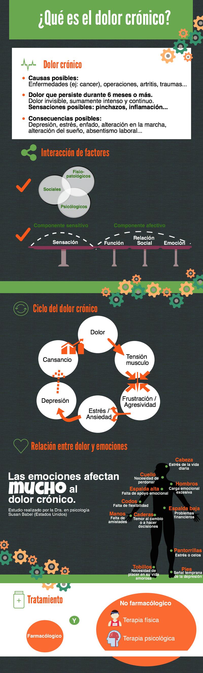 infografía dolor crónico por vida de cebra