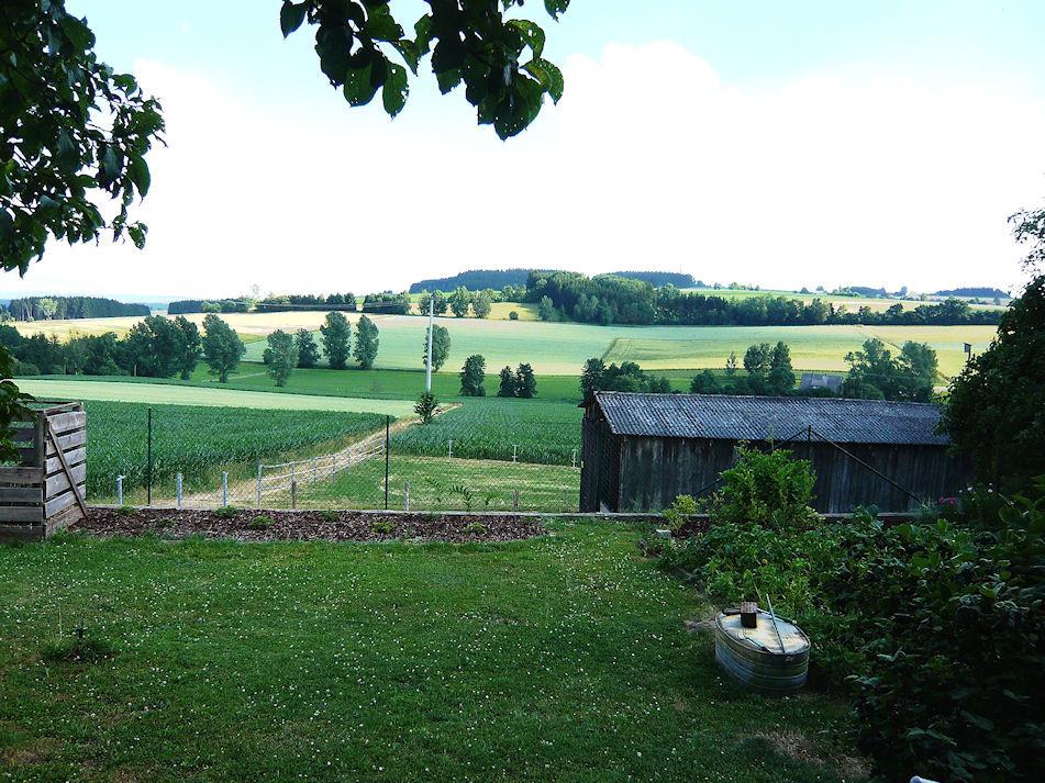 Blick von der Gartenterasse