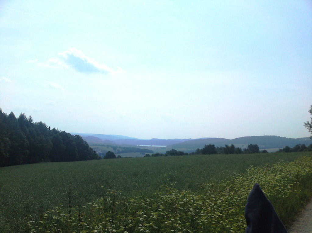 """Schleusinger Berg mit Blick zum """"Bergsee Ratscher"""""""