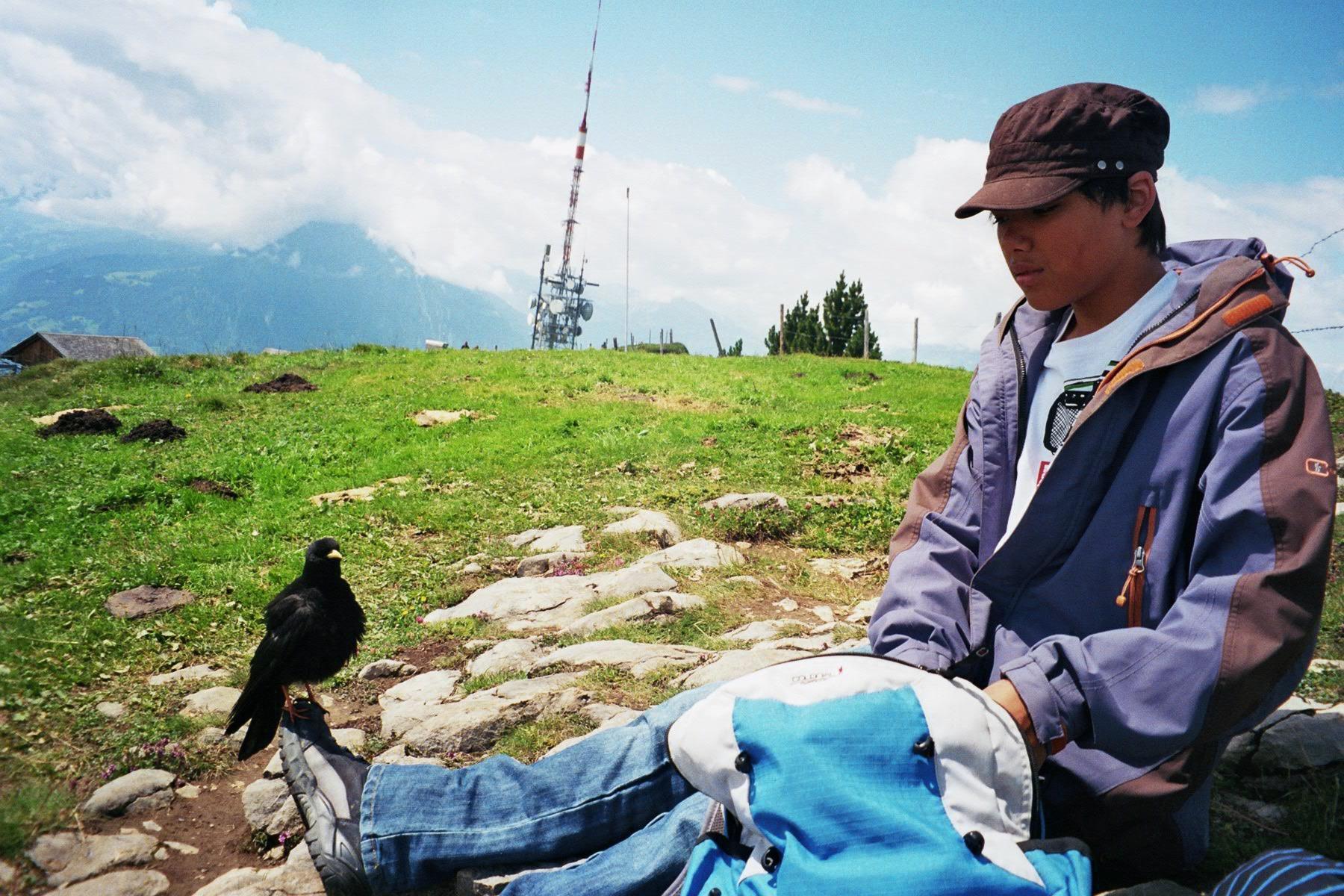 Thamiam mit der Freundin vom Berg