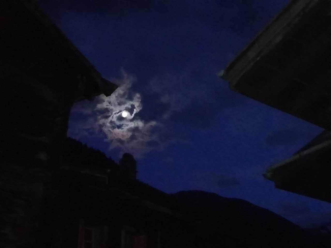Blaue Stunde nach dem Klavierrezital mit Pietro di Maria