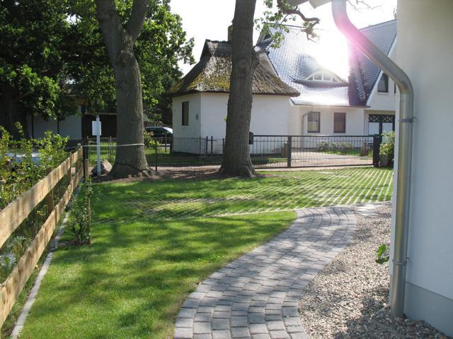 Der Hof des Ferienhaus Landhaus Prerow