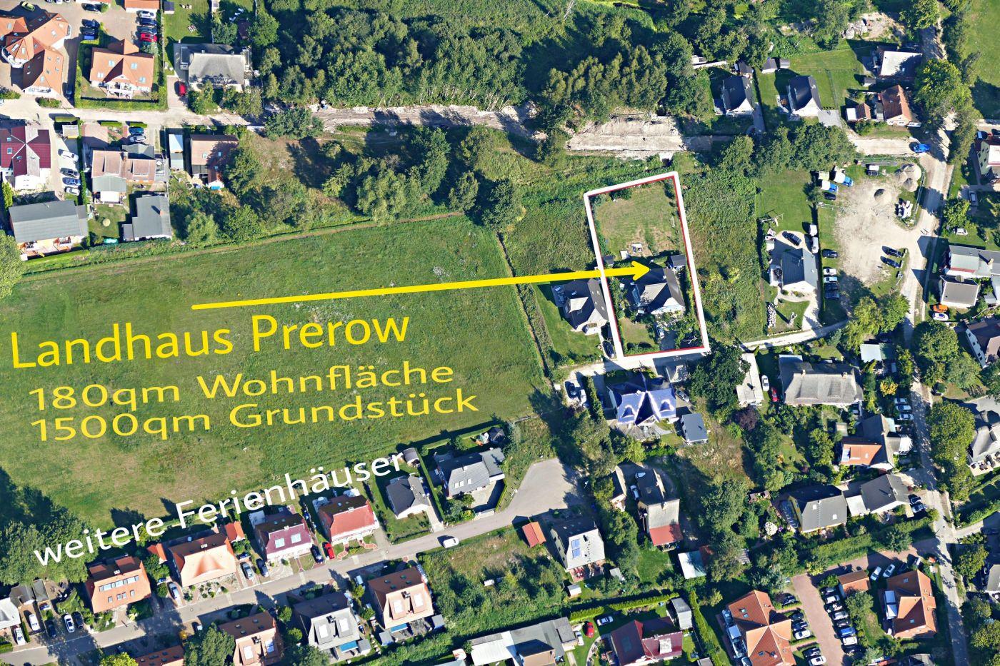 Luftaufnahme Ferienhaus Landhaus Prerow