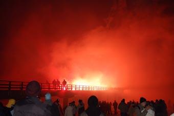 Silverster in Prerow - Höhenfeuerwerk an der Seebrücke