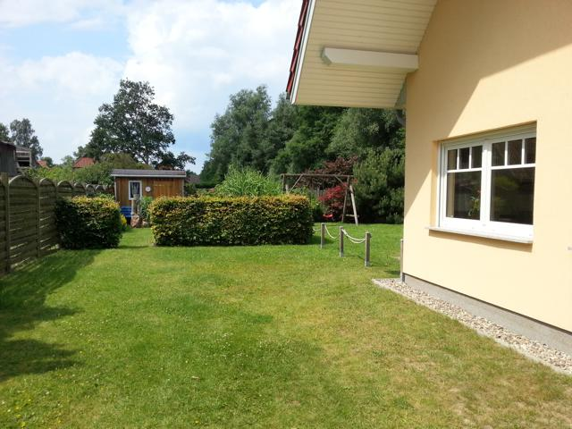 Zur Ferienwohnung gehört ein eigener Gartenanteil