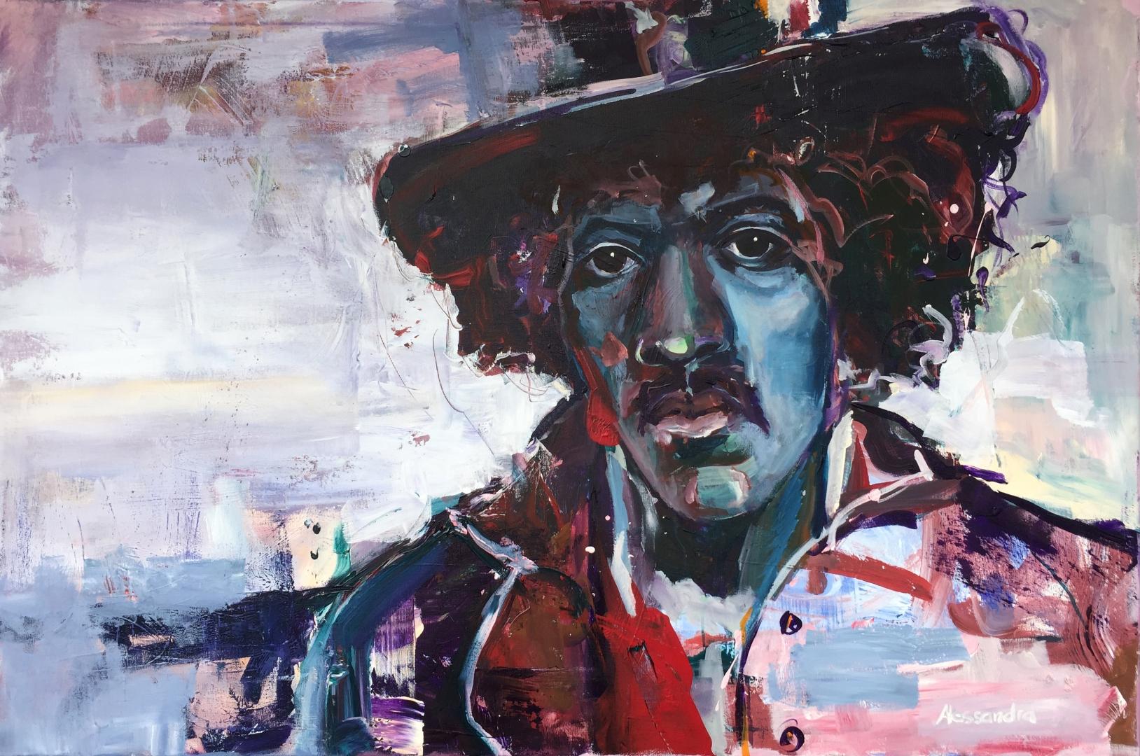 Jimi Hendrix 120x80 cm