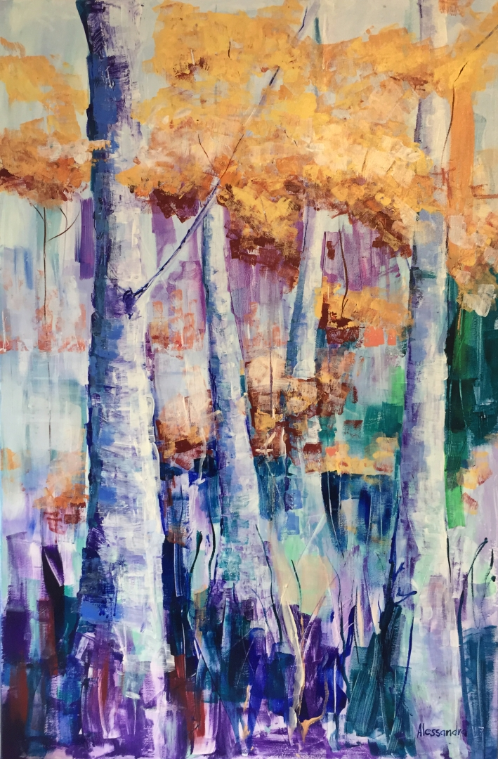 Forest in autumn 120x80 cm