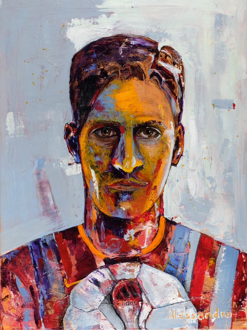 Football Player 80x60 cm