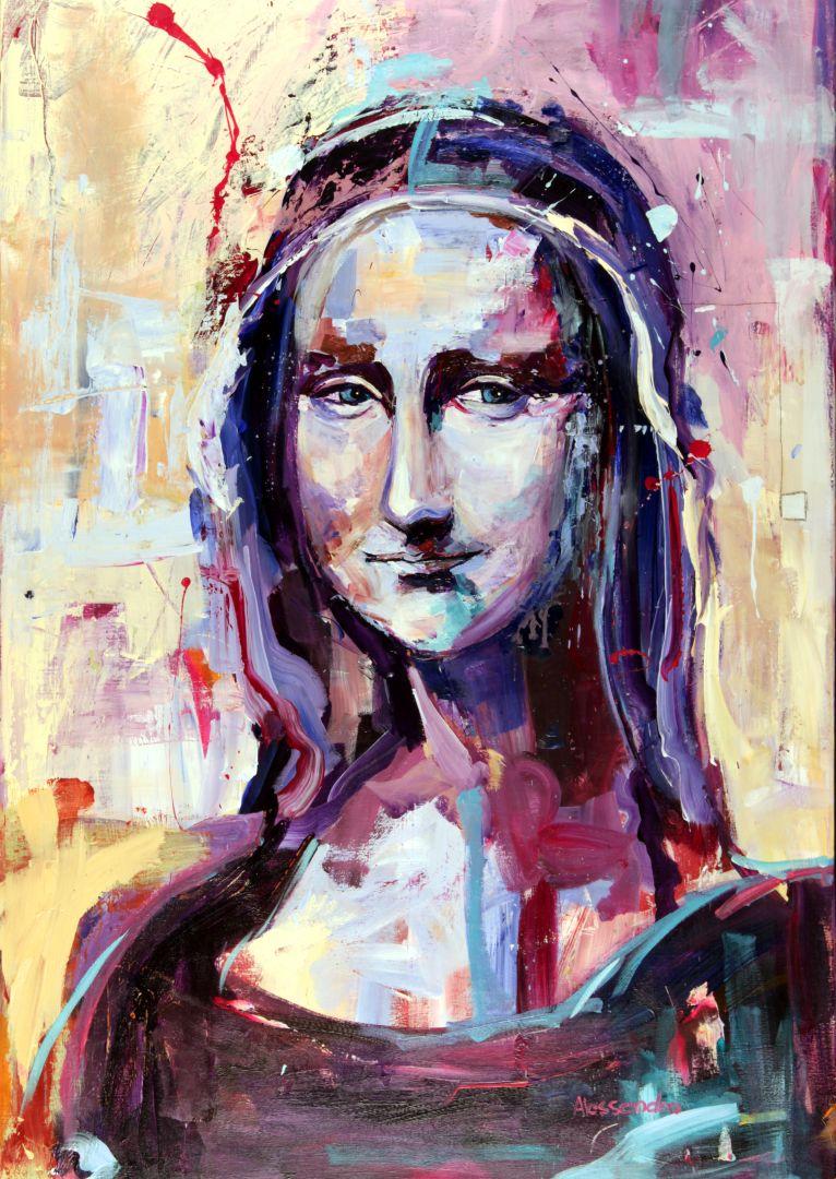 Mona Lisa 120x80 cm