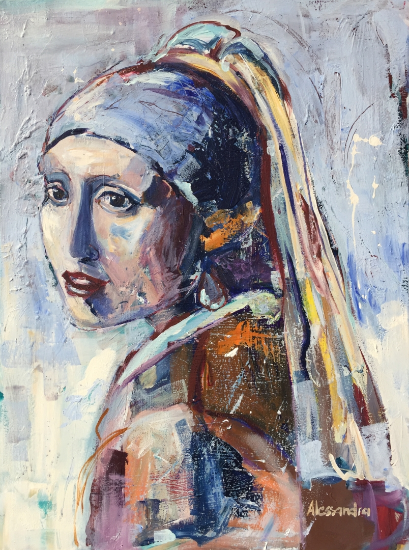 Girl with the Pearl Earring 80x60 cm