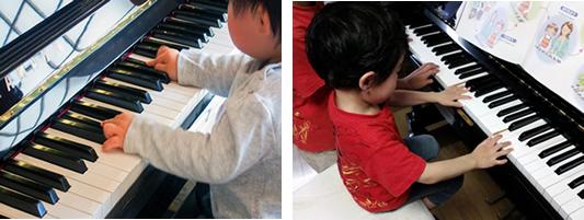 ちあき音楽教室久留米教室ピアノ弾く子ども