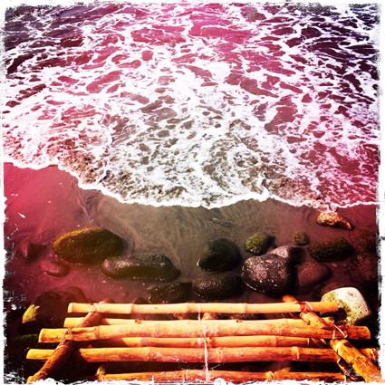 Meditation am und im Meer.