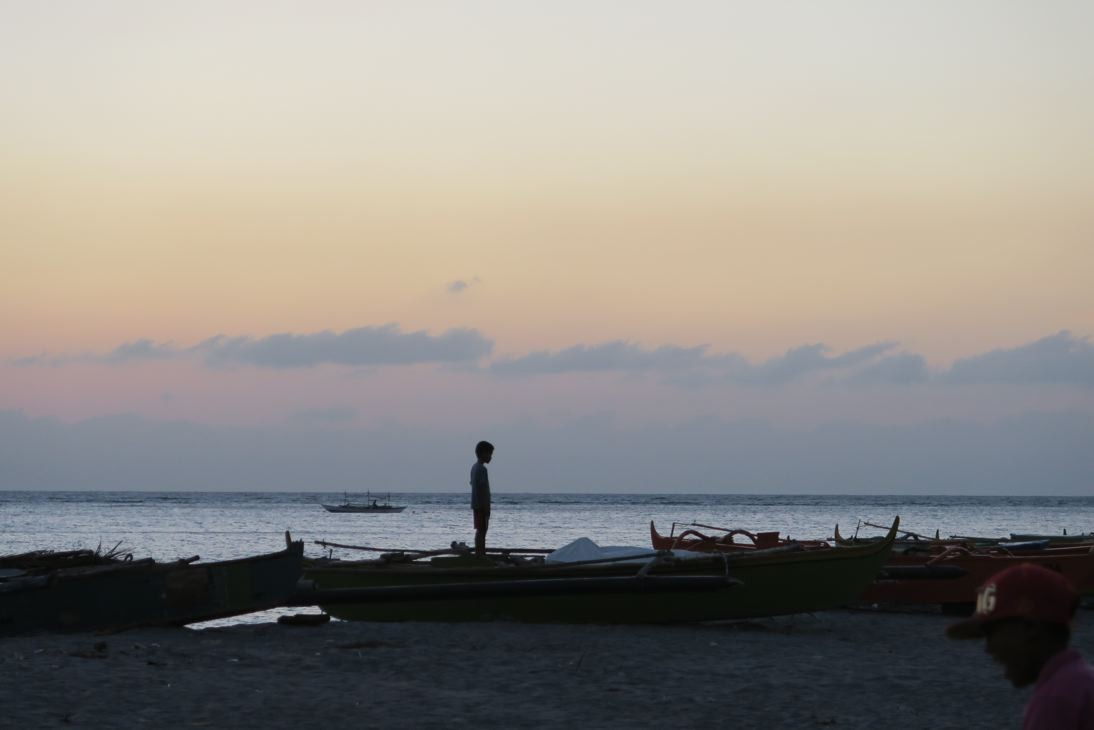 Und abends das Meer genossen.