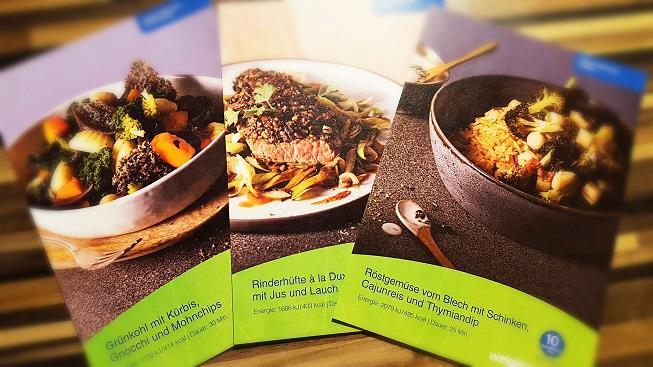 Die 3 Rezeptkarten/Gerichte