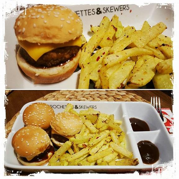 Burger mit Kohlrabi-Pommes