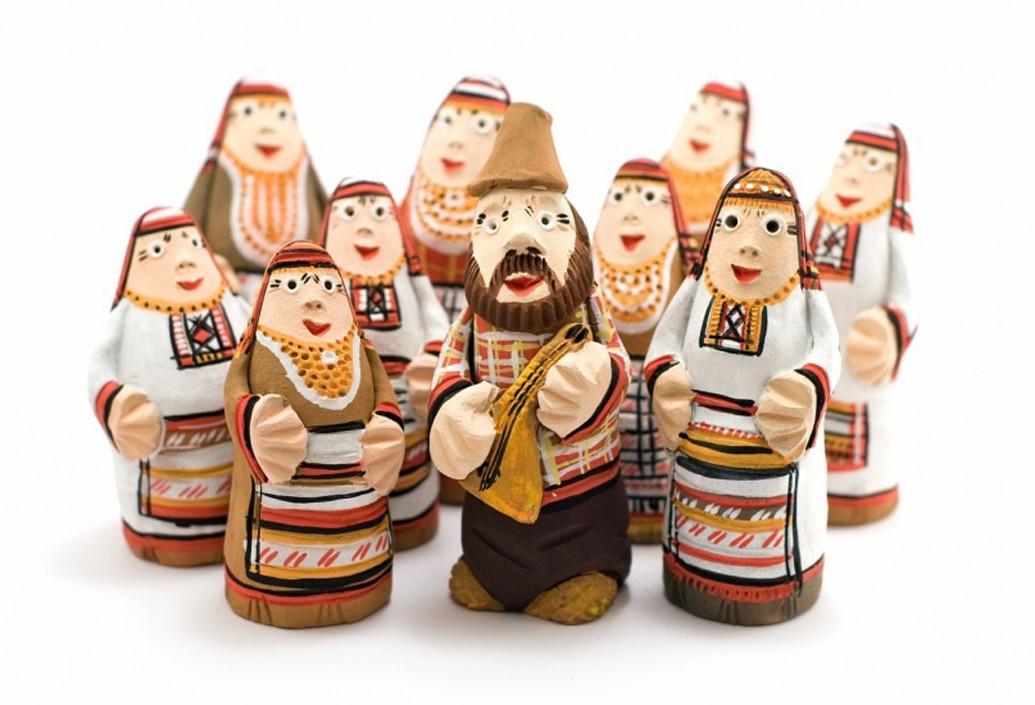 Этнографические куклы - куклы в национальных удмуртских костюмах