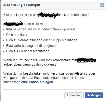 facebook freundschaft wurde beendet