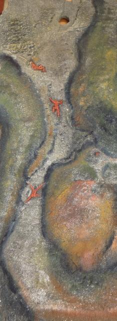 In der Ausstellung: Spurensuche, Gemälde aus den Farben der Natur