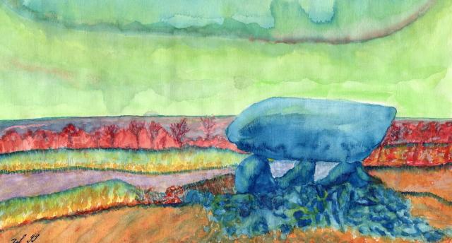"""""""Hünengrab"""" Aquarell  24x30 cm"""