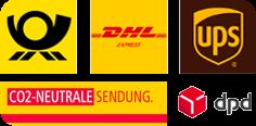 Deutsche Post DHL DPD UPS - CO₂-neutrale Sendungen über Paketdienstleister
