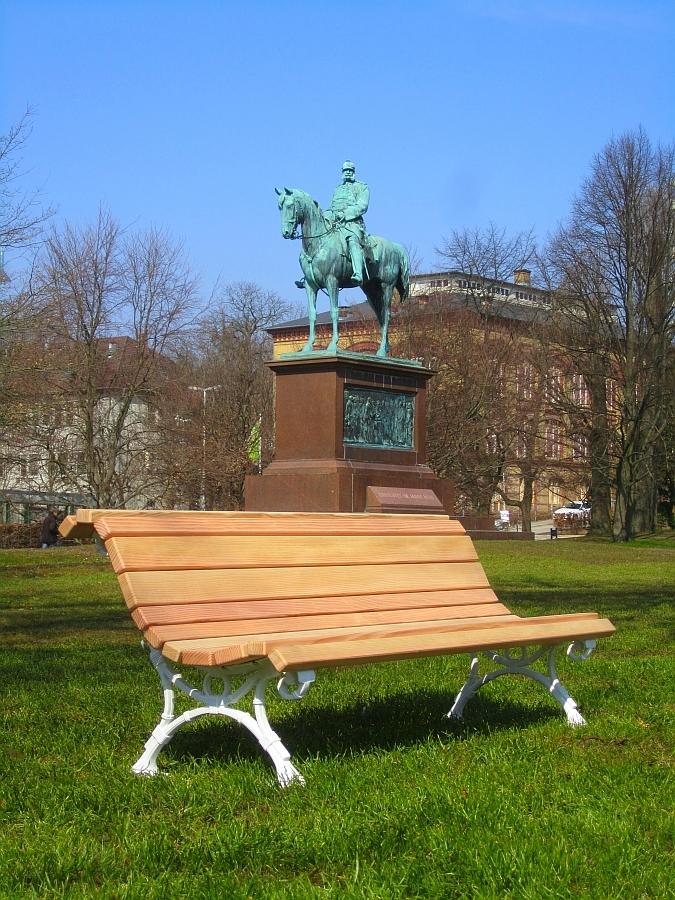 Gusseisen/Holz Bänke