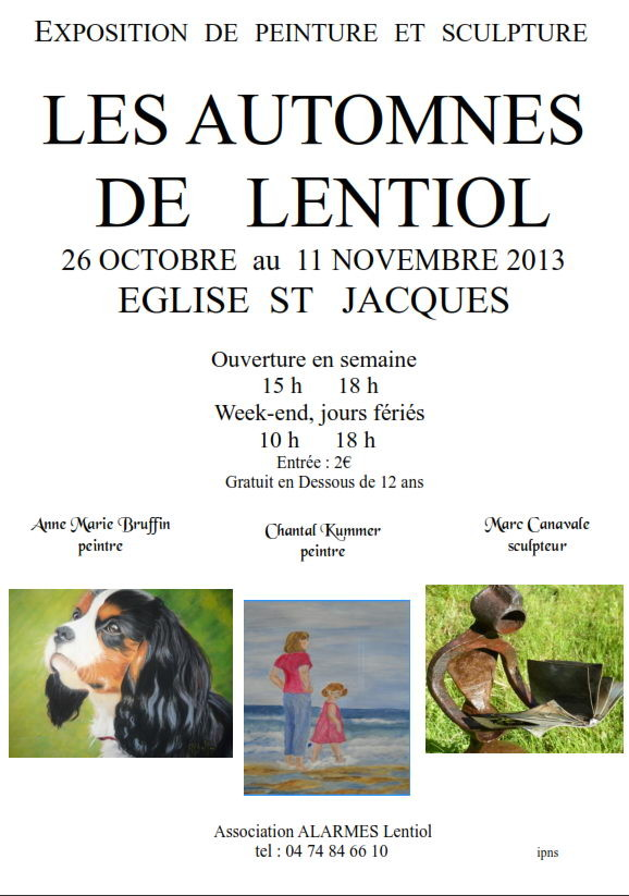 affiche exposition Lentiol