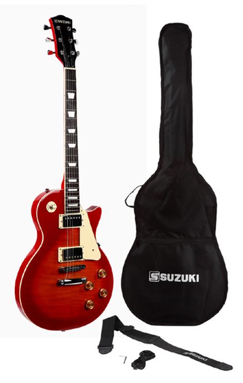 guitare suzuki type les paul avec housse et accessoires