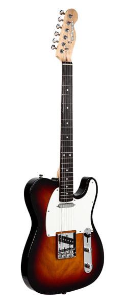 guitare suzuki type tele sunburst avec housse et accessoires